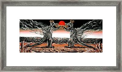 Abiogenic Memetics  Framed Print by Ryan Demaree