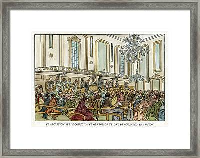 Abolition Cartoon, 1859 Framed Print by Granger