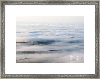 Above The Clouds Framed Print by Mike  Dawson
