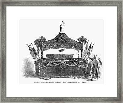 Abraham Lincoln's Funeral Framed Print by Granger
