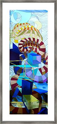 Abstract Art Stained Glass Framed Print by Mountain Dreams