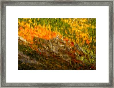 Abstract Autumn Reflections  Framed Print by Jeff Sinon