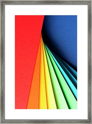 Abstract Background With Color Papers Framed Print by Colormos