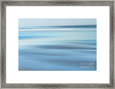 Abstract Blue Beach  Framed Print