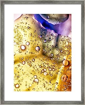 Abstract Bubbles Framed Print