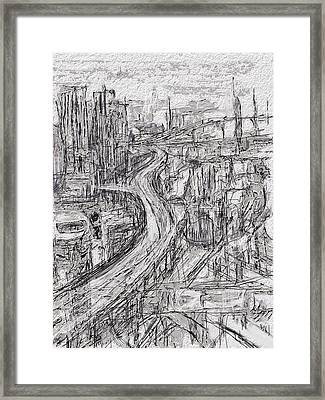Abstract City Framed Print