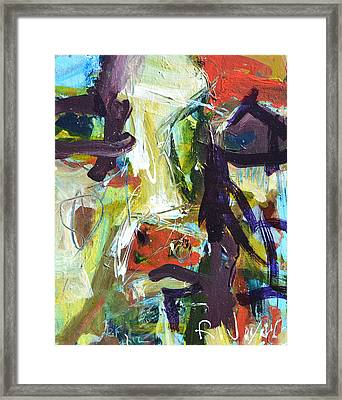 Abstract Cow Framed Print