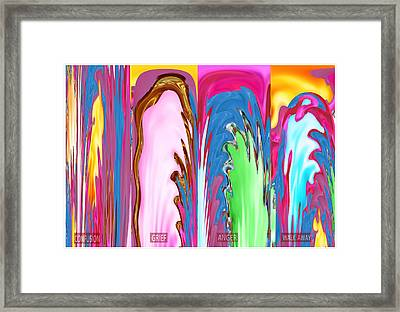 Abstract Emotional Stages  Confusion Disbelief Grief Anger Walkaway Framed Print