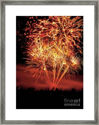 Abstract Fireworks Framed Print by Robert Bales