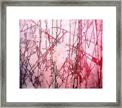 Abstract Frost Photo Framed Print