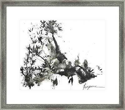 Abstract Ink Art Framed Print by Patricia Awapara
