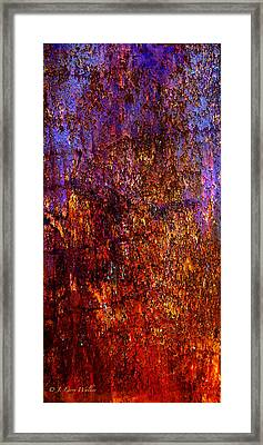 Abstract Framed Print by J Larry Walker