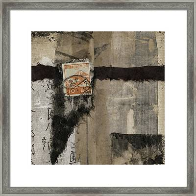 Abstract Japanese Collage Framed Print