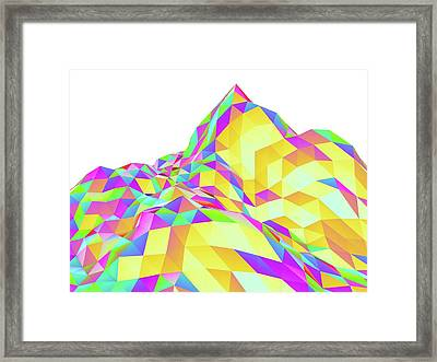 Abstract Landscape Of Polygons Framed Print by Pasieka