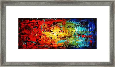 Abstract Large Painting Framed Print by Jolina Anthony