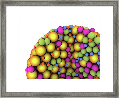 Abstract Molecule Framed Print by Alfred Pasieka