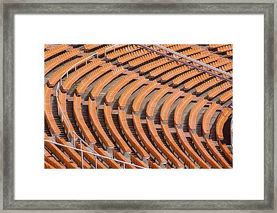 Abstract Pattern - Rows Of The Stadium's Seats Framed Print