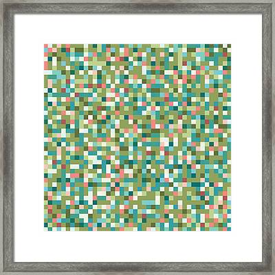 Abstract Pixels Framed Print by Mike Taylor