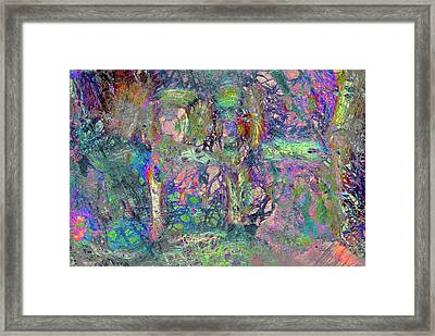 Abstract Polarised Light Micrographs Framed Print