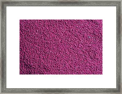 Abstract Texture - Purple Framed Print