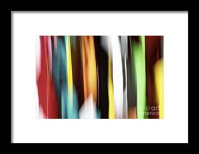 Green Abstract Art Framed Prints