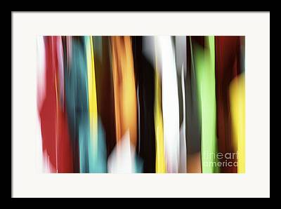 White Abstract Framed Prints