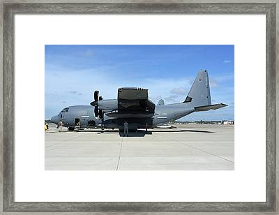 Ac-130j Ghostrider At Hurlburt Field Framed Print by Riccardo Niccoli