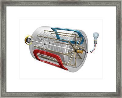 Ac Generator Framed Print by Carlos Clarivan