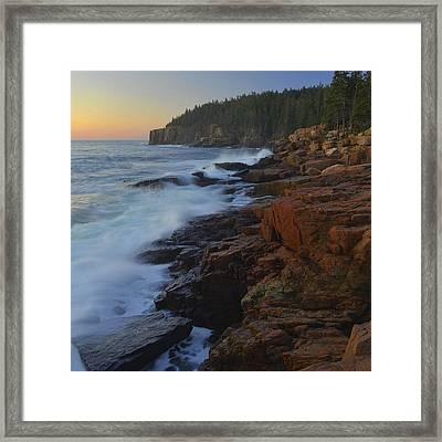 Acadia Dawn Framed Print by Stephen  Vecchiotti