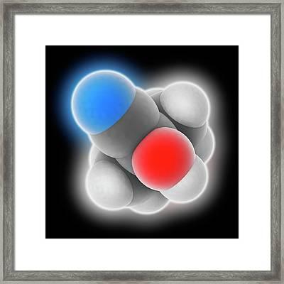 Acetone Cyanohydrin Molecule Framed Print by Laguna Design