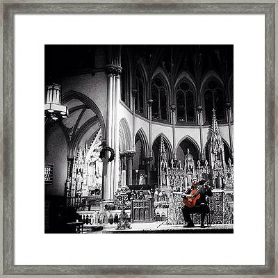 Acoustic Grace Framed Print