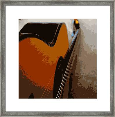 Acoustic Guitar  Framed Print by Laurie Pike