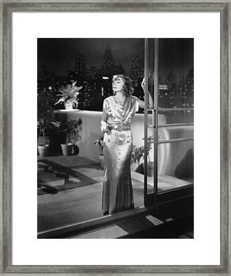 Actress Greta Garbo Framed Print by Underwood Archives