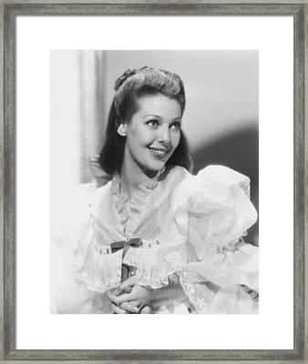 Actress Loretta Young Framed Print