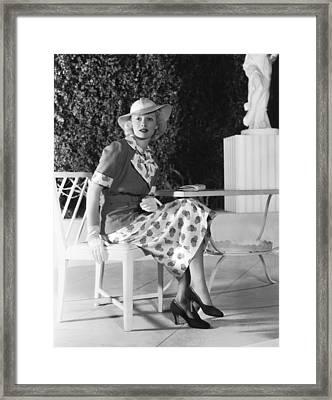 Actress Lucille Ball Framed Print