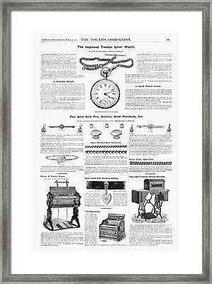 Ad Jewelry, 1890 Framed Print
