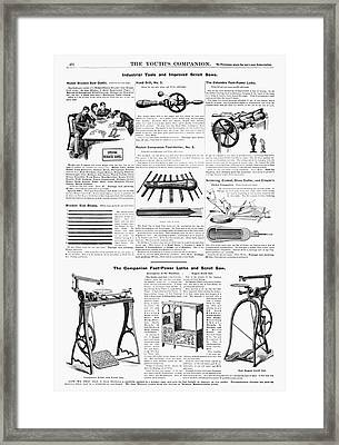 Ad Tools, 1890 Framed Print by Granger