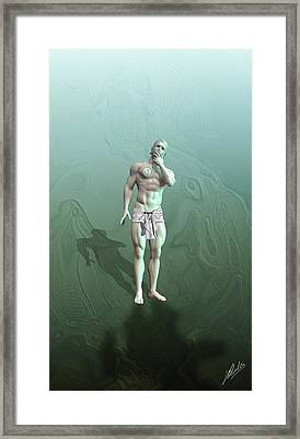Adam Synthetic Framed Print by Quim Abella