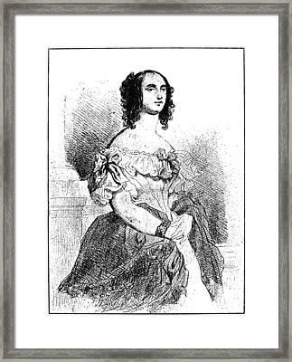 Adele Foucher Hugo (1804-1868) Framed Print by Granger