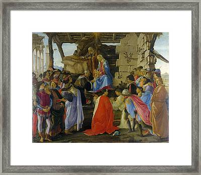Adoration Of The Magi Framed Print by Sandro Botticelli