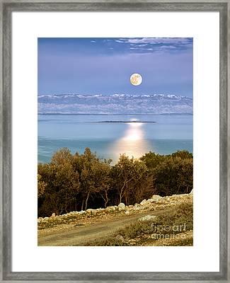 Adriatic Moon Framed Print by Sinisa Botas