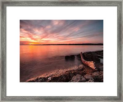 Adriatic Sunset II Framed Print by Davorin Mance
