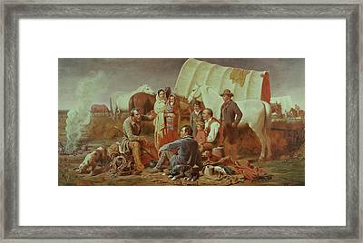 Advice On The Prairie  Framed Print by William Tylee Ranney