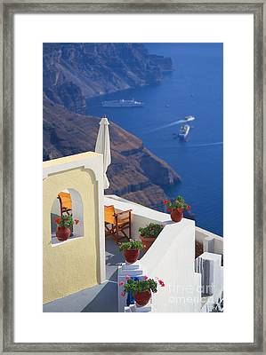 Aegean View Framed Print by Aiolos Greek Collections