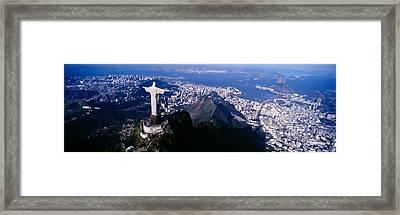 Aerial, Rio De Janeiro, Brazil Framed Print