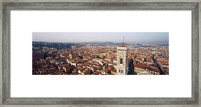 Aerial View Of A City, Florence Framed Print