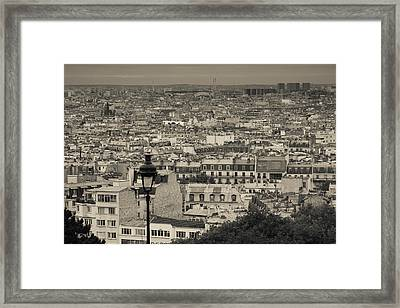 Aerial View Of A City Viewed Framed Print