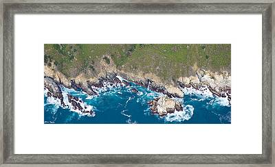 Aerial View Of A Coast, Big Sur Framed Print by Panoramic Images