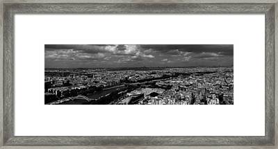 Aerial View Of A River Passing Framed Print by Panoramic Images