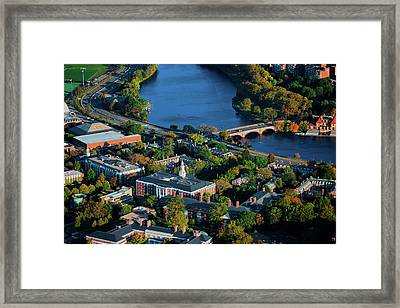 Aerial View Of Cambridge And Anderson Framed Print